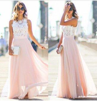 Fashion Sexy Women Summer Lace Maxi Long Dress Evening Party Prom Dress Sundress Chiffon Dress