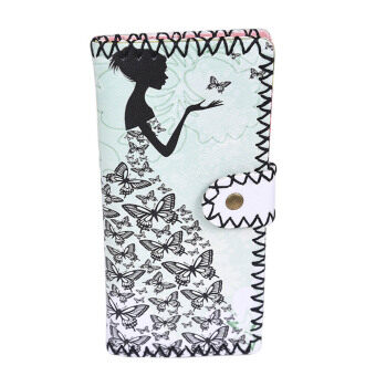 Fashion Women National Pattern Embroidered Wallet Long PurseHandbag
