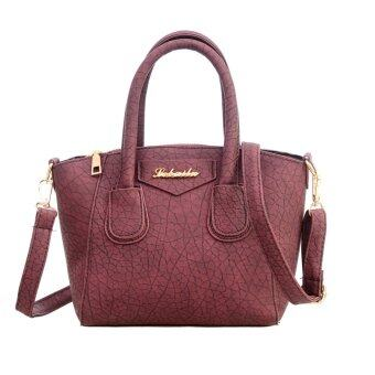 Fashion Women PU Leather Handbag Messenger Bag(Red)