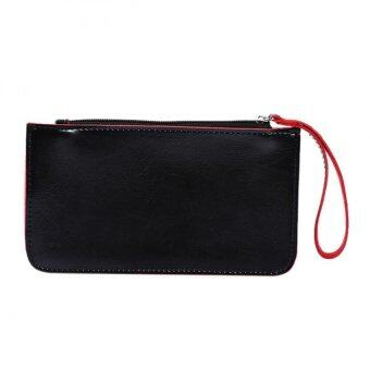 Fashion Women PU Leather Wallet Lady Long Card Holder Handbag BagClutch Purse Black