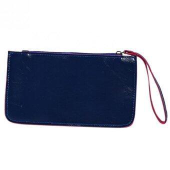 Fashion Women PU Leather Wallet Lady Long Card Holder Handbag BagClutch Purse Navy