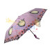 Female chinchillas cartoon full automatic vinyl folding umbrella(Automatic light purple)