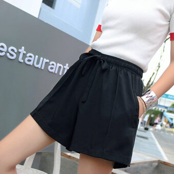 Female outerwear high-waisted loose shorts sports shorts