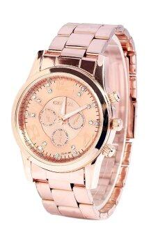Geneva Chronograph Elegant 178 Watch Rose Gold +Free Watch Box