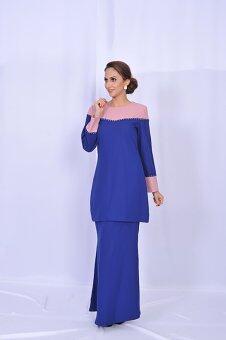 Gulatis Baju Kurung SHANAZ Blue & Light Pink
