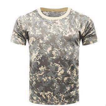 Hequ Camouflage T-shirt Men Breathable Army Tactical Combat T-ShirtMilitary Dry Camo Camp Tees Top H01