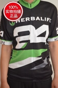 Herbalife genuine riding clothes 24 Herbalife special commemorative T-shirt team clothing short-sleeved Jersey Sports Equipment