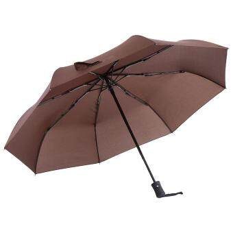 High Quality Anti-uv Fully Automatically Folding Umbrella #Coffee