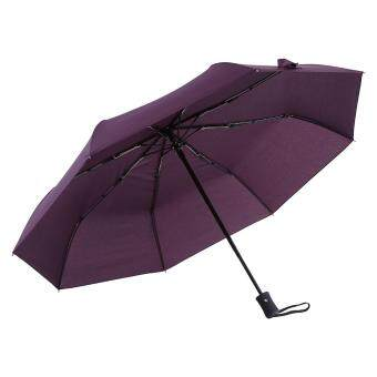 High Quality Anti-uv Fully Automatically Folding Umbrella #PurpleRed