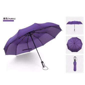 High Quality Anti-UV Fully One Button to Open Automatic FoldableUmbrella (Purple)