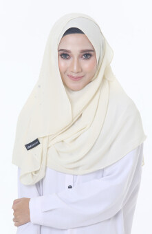 Hijab Fesyen Rindu Long Shawl Cream