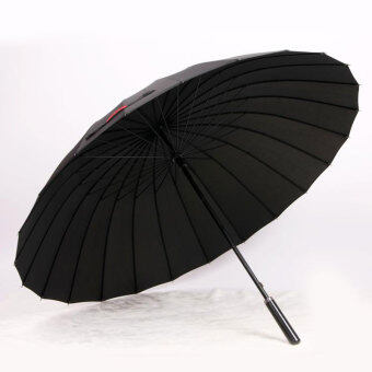Huge Wind-Proof 24-Bone Straight Colorful Outdoor Umbrella (24 bone black)