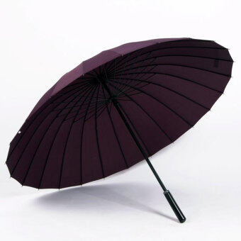 Huge Wind-Proof 24-Bone Straight Colorful Outdoor Umbrella (24 bone deep purple)