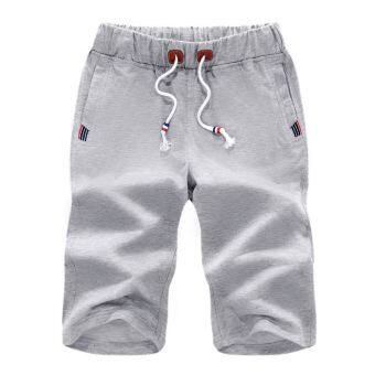 I beach short large trunks pants casual shorts (Light gray)