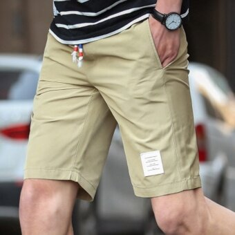I casual men summer short trunks shorts (Khaki)