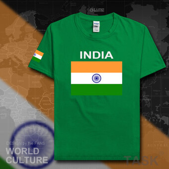 India football cotton T-shirt short sleeved men Jersey clothes (Short sleeved Irish green)