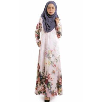 JF Fashion ADRA Jubah Floral Printed M1606 (Dusty-Pink)