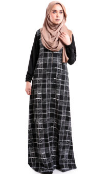 JF Fashion Arnee printed Jubah with side pocket S387 (D)