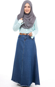 JF Fashion Denim Jean Skirt F9816 (Blue)