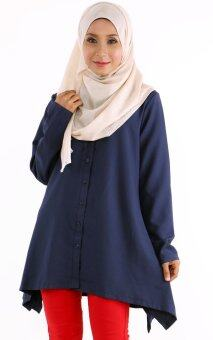 JF Fashion Kemeja Blouse D351 (Navy-Blue)