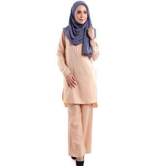JF Fashion Wardah Suit Blouse and Pant D388 (Khaki)