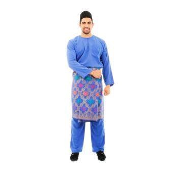 Kamdar Jumaart Mens Baju Melayu Johor-Blue