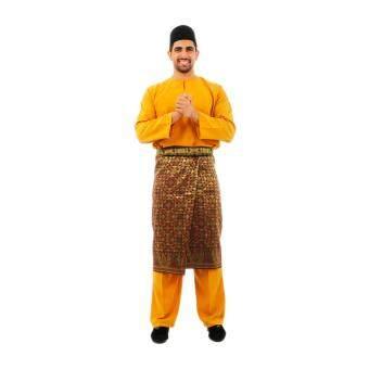 Kamdar Jumaart Mens Baju Melayu Johor-Gold (dark Khaki)