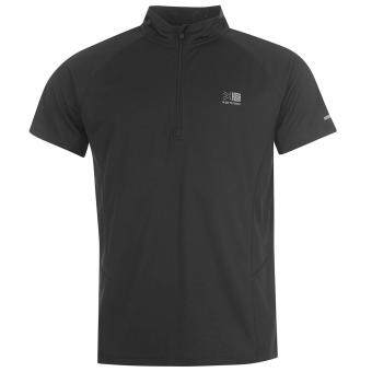 Karrimor Mens Zipped Short Sleeved T Shirt (Black)