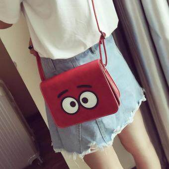 Kelly Leather Women Female Ladies Teenage Adults Student Mini SmallFashion All Match Sling Slide Cross-Body PU Leather Bag (Red)