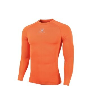 Kelme K15Z705 Men Quick-drying Unitard Long Sleeve Football Sport T-shirt Straitjacket (Orange)