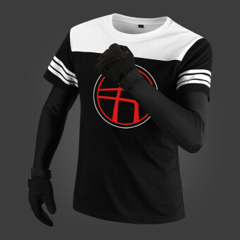 Kiwi short sleeved men's summer Teenager T-shirt (Black 24)