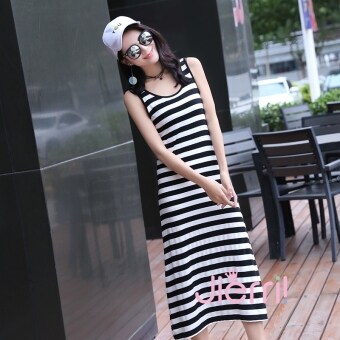 Korean-style female New style sleeveless dress