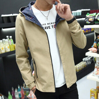 Korean-style men's spring New style casual jacket hooded jacket (Casual) (Casual)