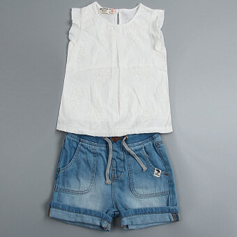 Korean-style summer girls embroidered short sleeved Top versatile T-shirt
