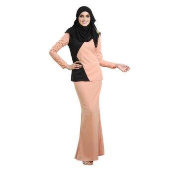 Lara Nour Baju Kurung Moden (Peach)