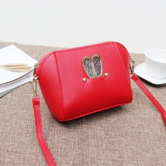 Leather New style leather shoulder bag cross-body women's bag (Red)