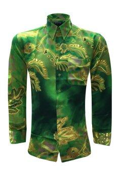 Long Sleeve Printed Batik Shirt - 22616-BK0005-3 (Green)