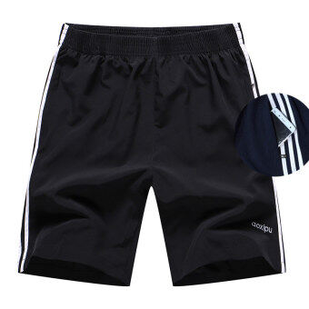 Men running fitness short shorts casual I shorts (588 black)