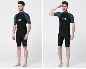 Men Swimwear Summer Snorkeling Diving Swim Tee Short SleeveRashguard Surf T Shirts Tops - Type6