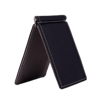 Men Wallet Short Wallets Leather Purses PU Leather Money ClipsSolid Thin Wallet Wallets For Men 3 Colors 02#