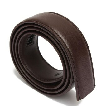 Men's Leather Automatic Waist Band Strap Belt Without Buckle 95-113CM Brown