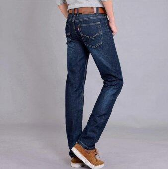 Men's Casual Wild Straight Slim Jeans Trousers