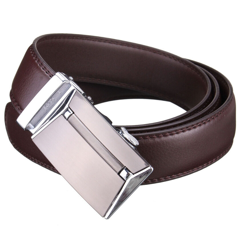 automatic buckle leather waist belts black lazada