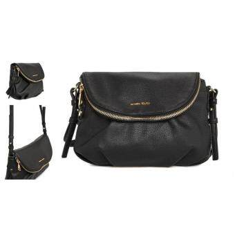 MNG Double Compartment Cross Body Sling Bag (Black)