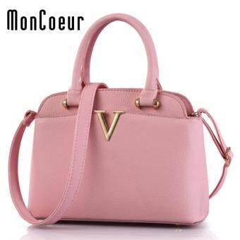 MonCoeur 306 V Cute Premium PU leather Cross body Sling Bag (Pink)