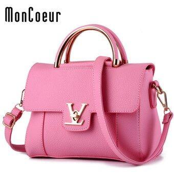 MonCoeur 404 V European Premium PU Cross body Sling bag (Pink)