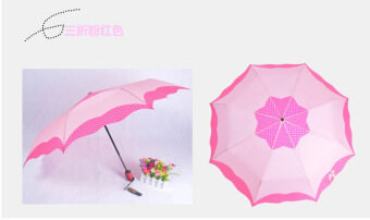 Ms. full automatic star folding double to increase creativeumbrella (Pink)