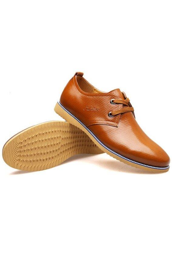 new fashion casual breathable mens leather shoes brown