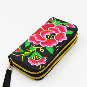 National Style New style embroidered wallet bag (Red Morning Glory morning glory) (Red Morning Glory morning glory)