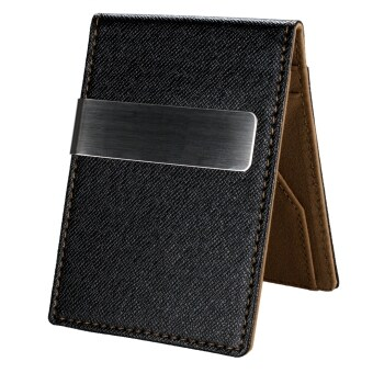 New Fashion Korean Style High Quality Men Mini Money Wallet With Clip - Intl